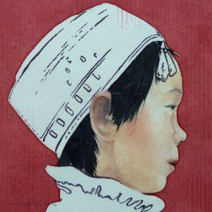 Chinese boy - 2014 - 15x15cm