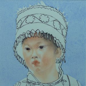 Chinese girl - Festive hat - 2014 - 30x30 cm