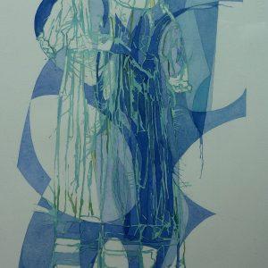 Hangend jurkje - 2014 - 50x37 cm
