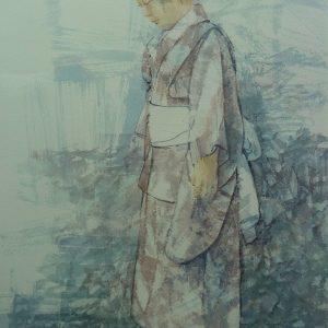 Japanese girl walking - 2018 - 54x76 cm