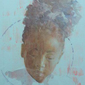Jeune fille de Haiti - 2019 - 25x29 cm