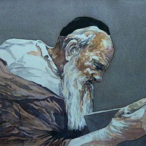 Talmud reader - 2019 - 25 x30 cm