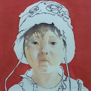 The gaze - Chinese girl - 2014 - 30x30 cm