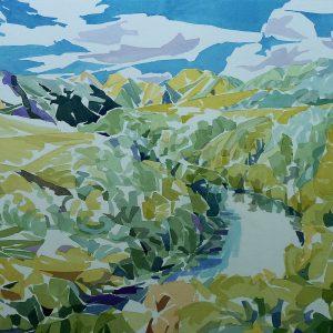 Wanganui river - 2018 - 54x76 cm