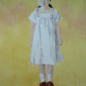 Chinese girl - red clogs - 2014 - 54x76 cm